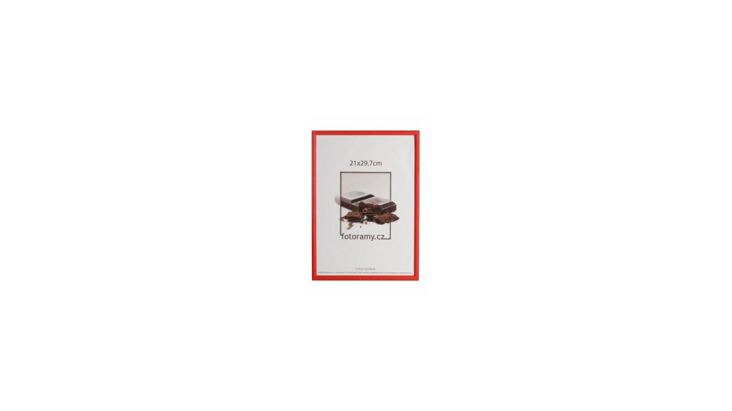 Drevený fotorámik DR0C7K 15x21 C8 červený